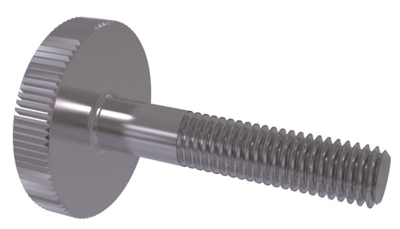 Flat Thumb Screw : Din flat knurled thumb screws