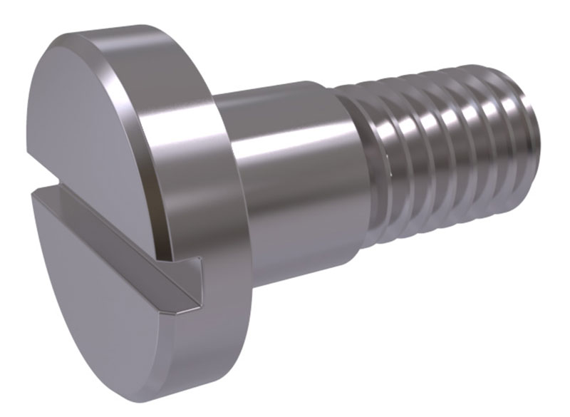 Slotted Pan Head Shoulder Machine Screws A2 Stainless Steel Din 923 M3 to M10