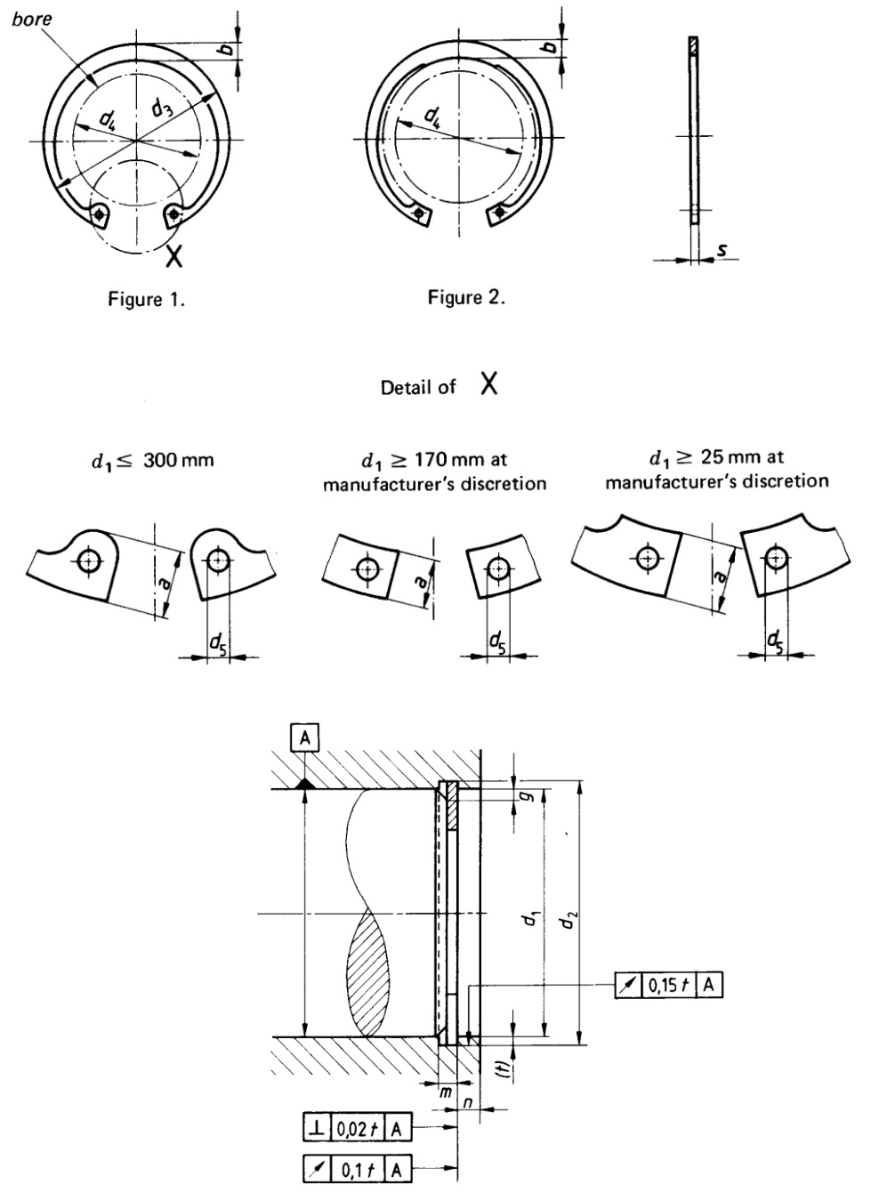 Din 472 Retaining Rings For Bores