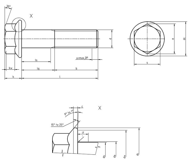 DIN 6921 - Hexagon flange bolts metric
