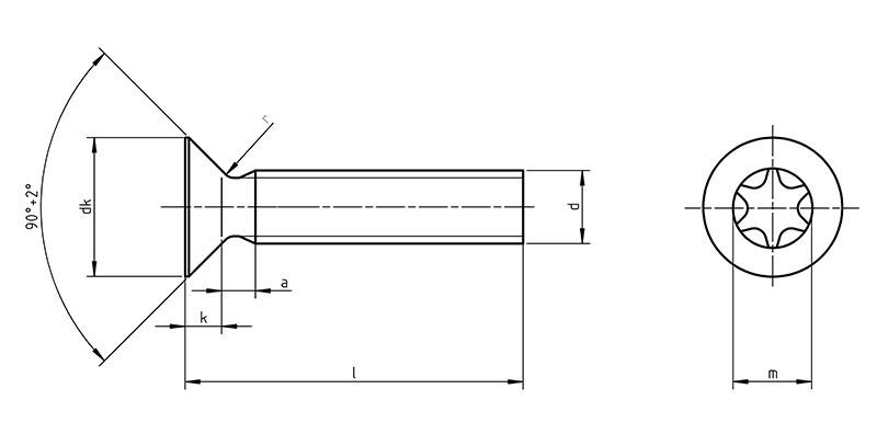 Bevorzugt DIN 965 TX - Senkschrauben mit TORX AJ22